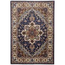 Handgefertigter Teppich Royal Maroc in Blau