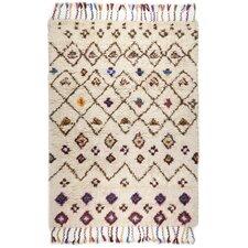 Handgefertigter Teppich Nomadic in Beige