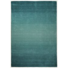 Handgewebter Teppich Wool Comfort in Türkis