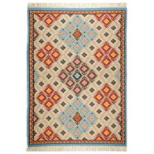 Handgewebter Teppich Kelim-Royal