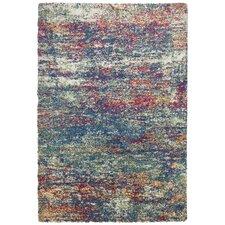Teppich Color Shag Young Fashion in Bunt / Blau