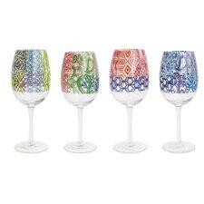 4 Piece Wine Goblet Set