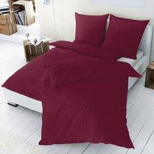 Luxus Satin Bettwäsche uni aus 100% Baumwolle