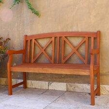 Contemporary Outdoor Wood Garden Bench