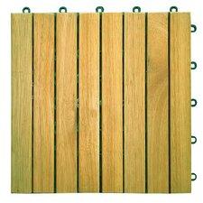 "Plantation Acacia 11"" x 11"" Interlocking Deck Tiles"