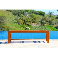 Backless Wood Three Seater Garden Bench
