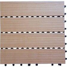 "Composite Cedar 12"" x 12"" Interlocking Deck Tiles"