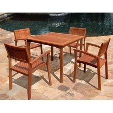5 Piece Outdoor Wood Dining Set