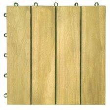 "Plantation Acacia 12"" x 12"" Interlocking Deck Tiles"