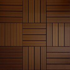 "UltraShield Brazilian IPE Wood 12"" x 12"" Outdoor Quick Deck Tile"