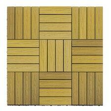 "Naturale Composite 12"" x 12"" Interlocking Deck Tiles in English Oak"