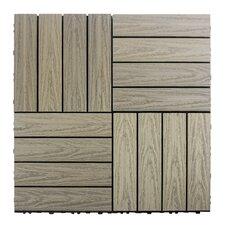 """Naturale Composite 12"""" x 12"""" Interlocking Deck Tiles in Roman Antique"""