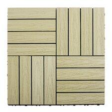 "Naturale Composite 12"" x 12"" Interlocking Deck Tiles in Sahara Sand"