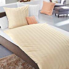 Bettwäsche-Set Damast Streifen aus Baumwolle