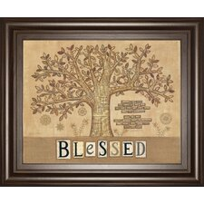 Blessed Tree of Life by Annie Lapoint Framed Graphic Art