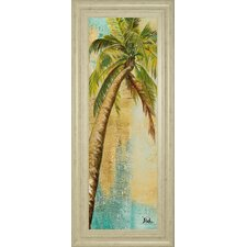 Beach Palm Panel 2 by Patricia Pinto Framed Painting Print