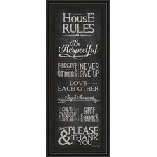 House Rules by Susan Ball Framed Textual Art
