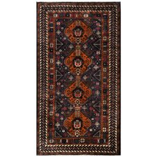 Hand Knotted Wool Brown Area Rug