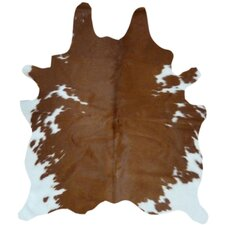 Natural Cowhide Brown/White Area Rug