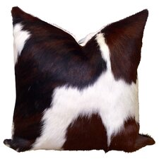 Cowhide Leather/Suede Throw Pillow