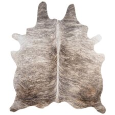 Natural Cowhide Grey Brindle Area Rug