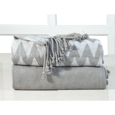 Chevron Cotton Throw Blanket