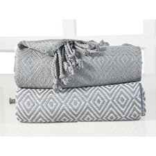 Elegancia Diamond Weave Cotton Throw Blanket (Set of 2)