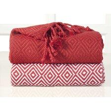 Elegancia Diamond Weave Cotton Throw Blanket (Set of 2)