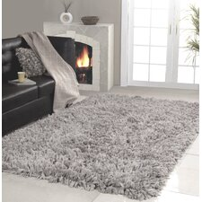Affinity Home Collection Hand Woven Shag Silver Area Rug