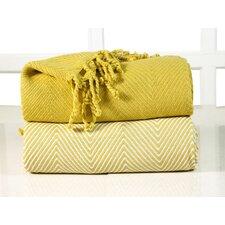 Elegancia Cotton Chevron Throw Blanket (Set of 2)