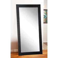 Modern Scratched Black Tall Accent Mirror