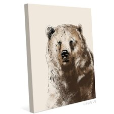 Painted Bear Graphic Art on Wrapped Canvas