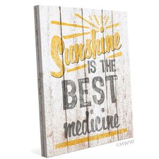 Sunshine Is The Best Medicine Textual Art on Wrapped Canvas