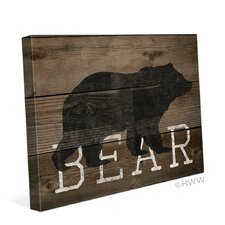 Bear Silhouette Graphic Art on Wrapped Canvas