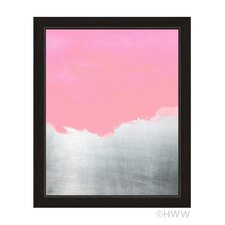 Abstract Framed Painting Print in Pink