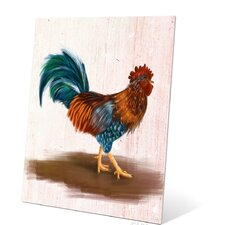 Painted Rooster Painting Print