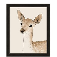 Painted Deer Framed Graphic Art