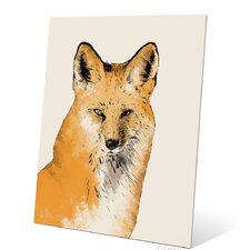 Painted Fox Graphic Art Plaque