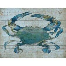 Crab Graphic Art Plaque