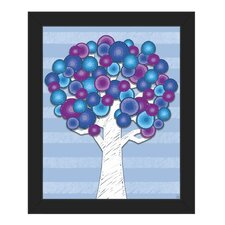 'Crayon Tree' Framed Graphic Art