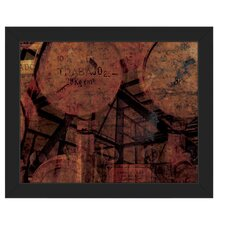 'Industrial Scales' Framed Graphic Art
