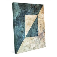 'Twin Reflections Blue' Graphic Art on Wrapped Canvas