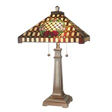 """Mission Rose 27.5"""" H Table Lamp with Empire Shade"""