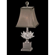 """Lucinda Crystal Accent 17.25"""" H Table Lamp with Bell Shade"""