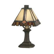 """Castle Cut Mini 11"""" H Table Lamp with Empire Shade"""