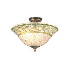Mosaic 3 Light Semi Flush Mount