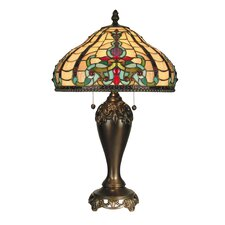 """Topaz Baroque 27"""" H Table Lamp with Bowl Shade"""