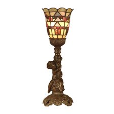 """Tiffany Mission 15.5"""" H Table Lamp with Bell Shade"""