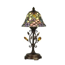 """Crystal Peony 15.25"""" H Table Lamp with Bell Shade"""