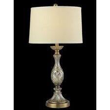 """Golden Crystal 26.8"""" H Table Lamp with Drum Shade"""